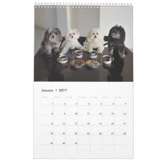 Calendario del paquete 2017 de PBJ