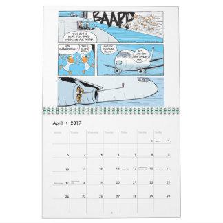 Calendario divertido de los dibujos animados de la