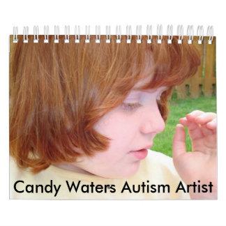 Calendario El caramelo riega al artista del autismo