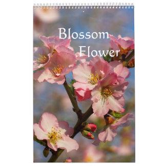 Calendario El melocotón y la cereza florecientes hacen