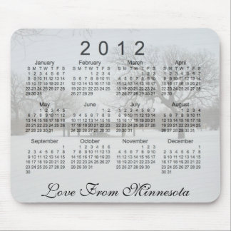 Calendario escénico 2012 alfombrilla de ratón