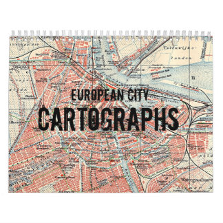 Calendario europeo de Cartographs de la ciudad del