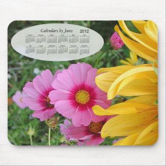 Calendario floral 2012 alfombrilla de ratón