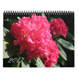 Calendario floral de la fotografía del año 2017 de
