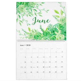 Calendario floral de los jardines de la acuarela