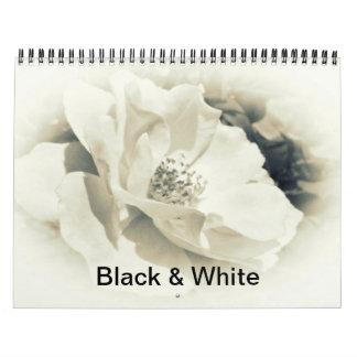 Calendario - fotografía blanco y negro