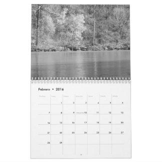 Calendario fotos de naturaleza en blanco al negro
