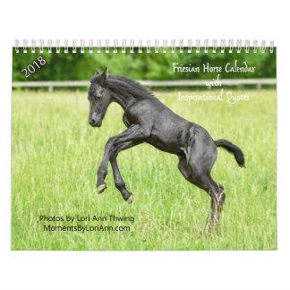 Calendario frisio inspirado del caballo 2018