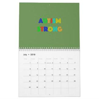 Calendario fuerte del autismo