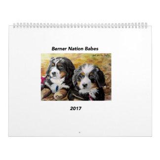 Calendario grande de los bebés 2017 de la nación