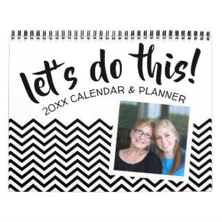 Calendario Hagamos esto - planificador con metas y 2 fotos