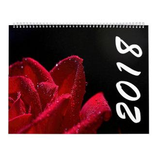 Calendario hermoso de las flores 2018