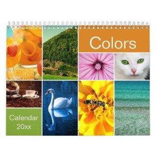 Calendario Calendario hermoso de los colores