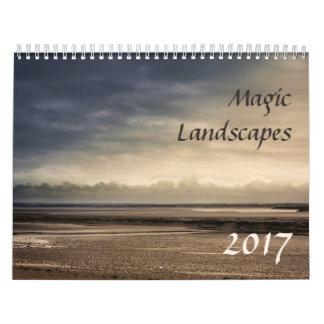 Calendario hermoso de los paisajes