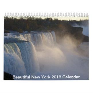 Calendario hermoso de Nueva York 2018