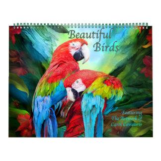 Calendario hermoso del arte de los pájaros