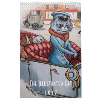 Calendario ilustrado de 2017 gatos - Louis Wain