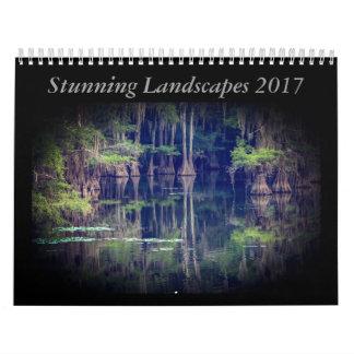 Calendario imponente 2017 del paisaje