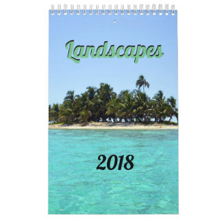 Calendario impresionante de los paisajes 2018