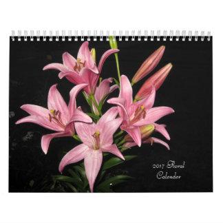 Calendario impreso personalizado floral 2018