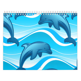 Calendario Las ondas de salto del delfín