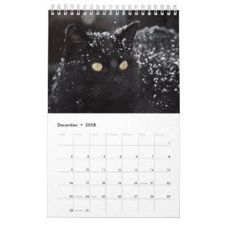 Calendario lindo 2018 de los gatos
