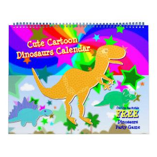 Calendario lindo de los niños de los dinosaurios