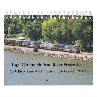 Calendario Línea de río de CSX dieseles 2018 y submarino del