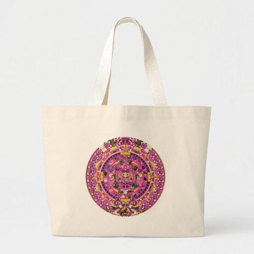 calendario maya bolsas lienzo