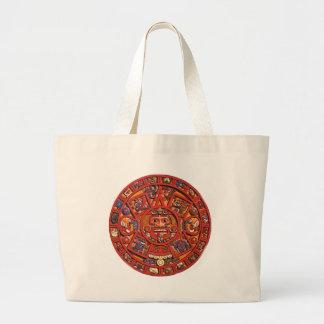 Calendario maya bolsa tela grande