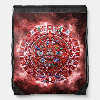 Calendario maya brillante mochila