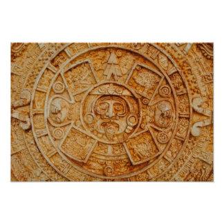 Calendario maya de dios arte fotografico