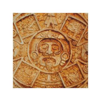 Calendario maya de dios impresión en lienzo