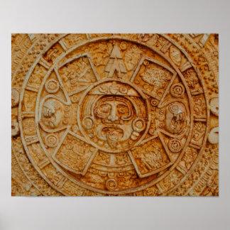 Calendario maya de dios póster