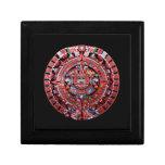 Calendario maya de Sunstone del metal Caja De Joyas
