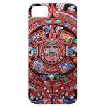 Calendario maya de Sunstone del metal iPhone 5 Protectores