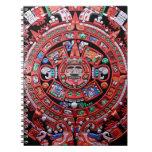Calendario maya de Sunstone del metal Libro De Apuntes Con Espiral