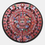 Calendario maya de Sunstone del metal Pegatinas