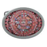Calendario maya hebillas de cinturon ovales