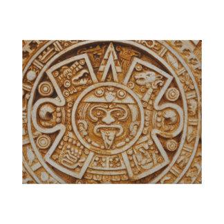 Calendario maya impresión en lienzo