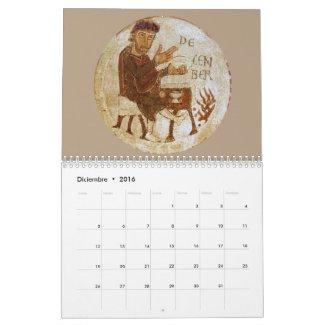 Calendario medieval 2 páginas Estándar Calendar