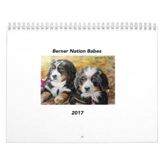 Calendario medio de los bebés 2017 de la nación de