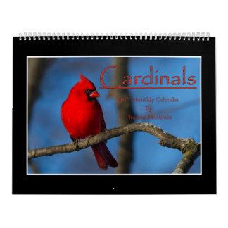 Calendario mensual de los cardenales 2017 de