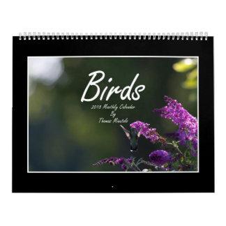 Calendario mensual de los pájaros 2018 de Thomas