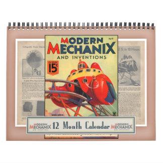 Calendario moderno de Mechanix y de las