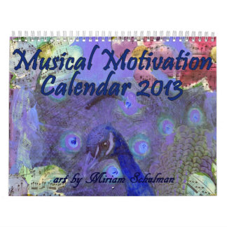 Calendario musical 2013 de la motivación