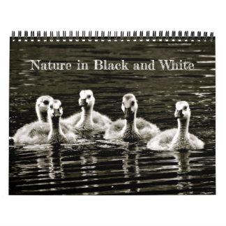 Calendario Naturaleza en blanco y negro
