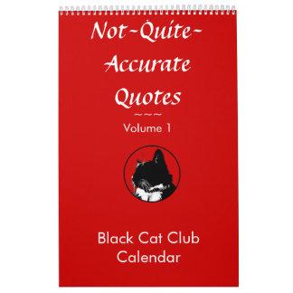 Calendario no muy exacto del gato de las citas