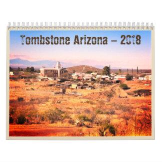 Calendario occidental de Arizona 2018 de la piedra