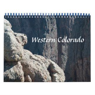 Calendarios De Pared Calendario occidental de la foto de Colorado